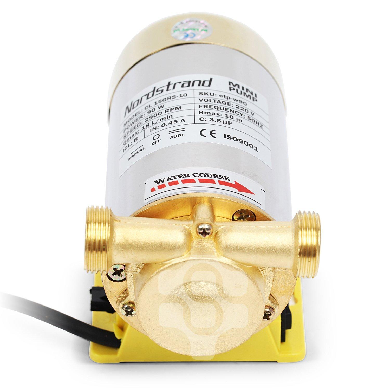 Nordstrand 90W Booster-Bomba de agua a presión automática para ducha de jardín: Amazon.es: Bricolaje y herramientas