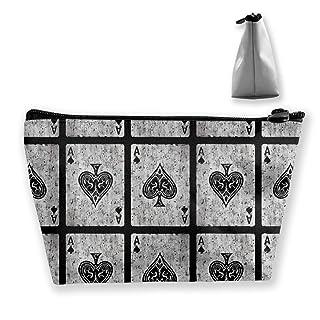 Borsa da trucco per amante di carte da poker vintage