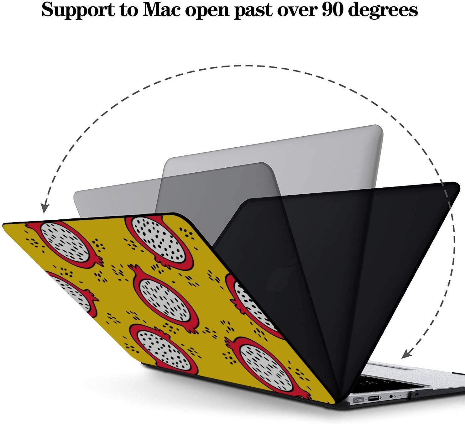 MacBook Cover 13 Inch Summer Fashion Fruit Dragon Love Plastic Hard Shell Compatible Mac Air 11 Pro 13 15 Laptop Case 13 Inch Protection for MacBook 2016-2019 Version