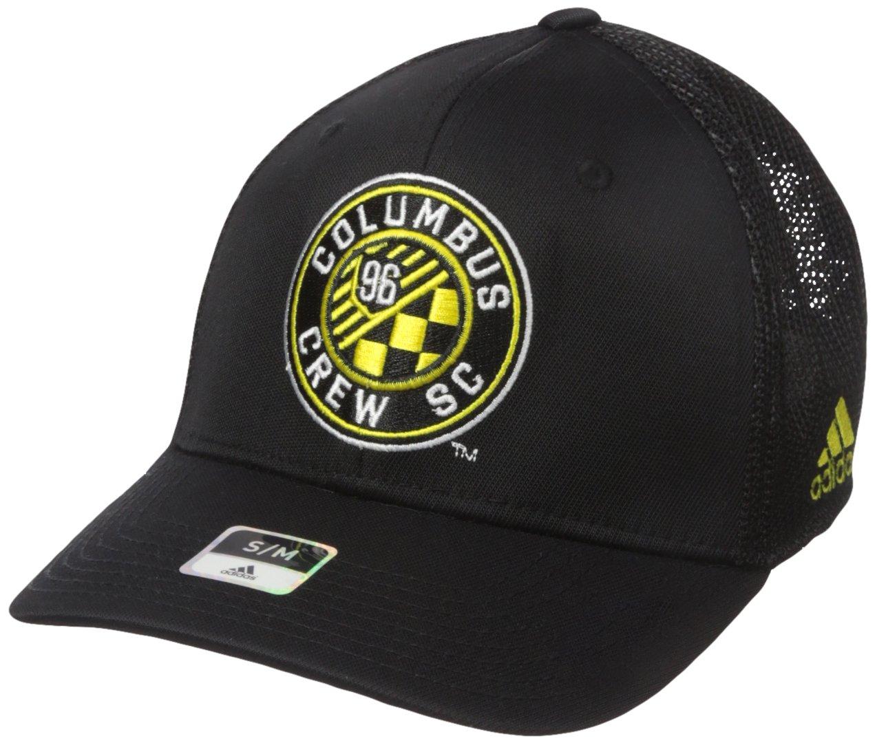 new product dde05 f8c39 Amazon.com   adidas MLS Mens MLS SP17 Fan Wear Tactel Trucker Flex Cap    Sports   Outdoors