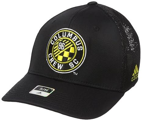 premium selection fd77d 4a3d8 MLS Columbus Crew Men s SP17 Fan Wear Tactel Trucker Flex Cap, Black, Small