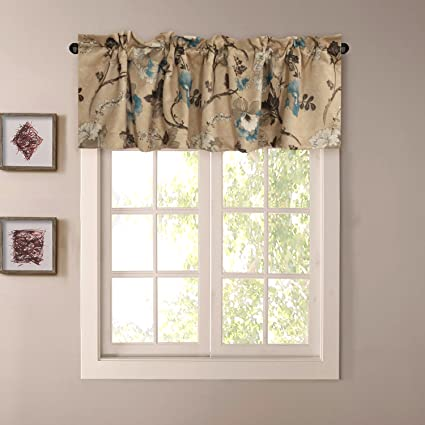 H.VERSAILTEX Window Valance Rustic Style Ultra Soft Material Suits for  Kitchen Bath Laundry Bedroom Living Room (Rod Pocket, 58 by 15 inch,  Vintage ...