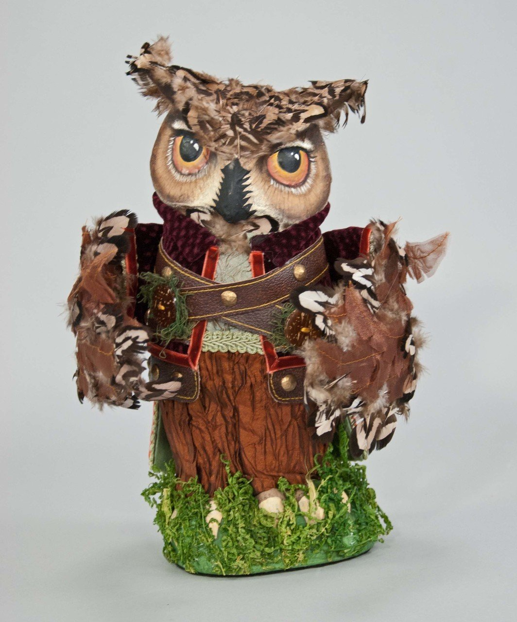 """Katherine's Collection owl tree topper Woodland Into the Woods 13"""""""