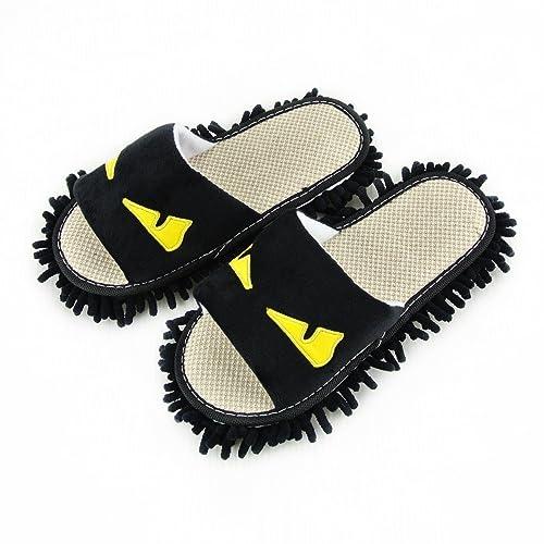 Zapatillas con mopas de imitación, limpiar el suelo en el baño, Oficina, cocina