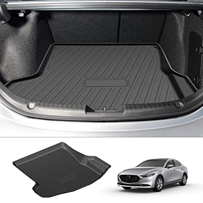 Powerty Trunk Mat All Weather TPO Rear Cargo Liner for Mazda 3 Sedan/Mazda Axela 2020 2020(Not for Hatchback): Automotive