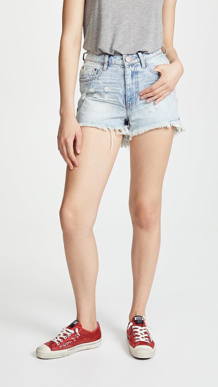 One Teaspoon Womens High Waist Bonita Denim Shorts ot19945