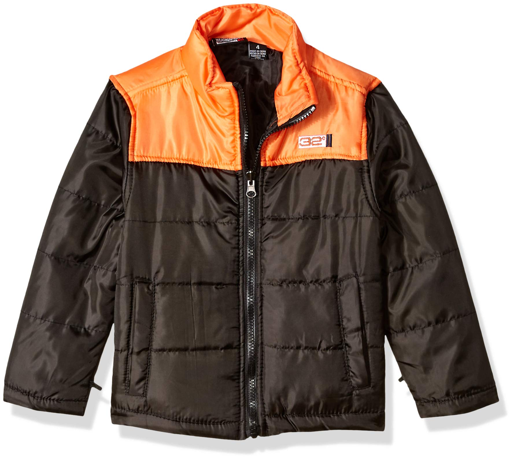 32 DEGREES Weatherproof Boys' Little Outerwear Jacket (More Styles Available), Softshell Systems Charcoal Heather/Black, 4 by 32 DEGREES (Image #4)