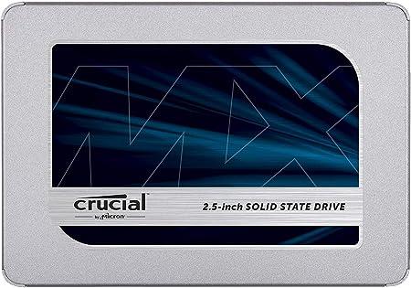 Oferta amazon: Crucial MX500 500GB CT500MX500SSD1(Z) Unidad interna de estado sólido-hasta 560 MB/s (3D NAND, SATA, 2.5 Pulgadas)