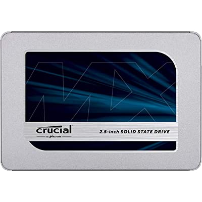 Crucial MX500 500GB CT500MX500SSD1(Z) Unidad interna de estado sólido-hasta 560 MB/s (3D NAND, SATA, 2.5 Pulgadas)