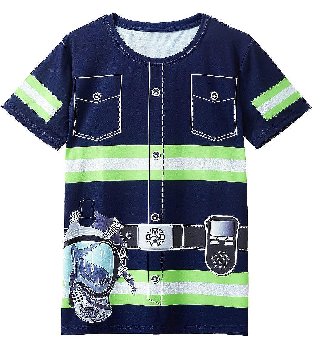 COSAVOROCK Camisetas de Traje de Bombero para Hombre: Amazon ...