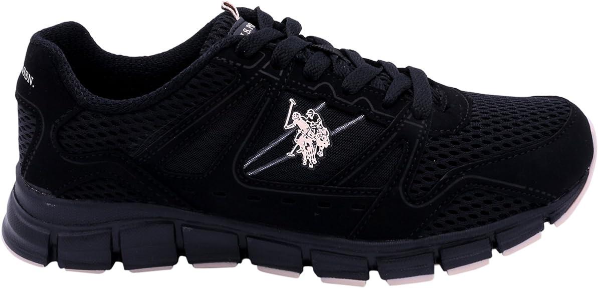 U.S. Polo Assn. Tenis atléticas con Cordones para Mujer, Negro ...