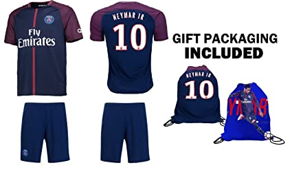 Neymar Jr #10 PSG - Camiseta de fútbol para niños, manga larga, diseño