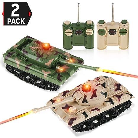 Amazon Com Liberty Imports Rc Fighting Battle Tanks Set Of 2