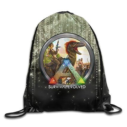 Amazon.com  Ark Survival Evolved Icon Drawstring Backpack Shoulders ... 1181128511