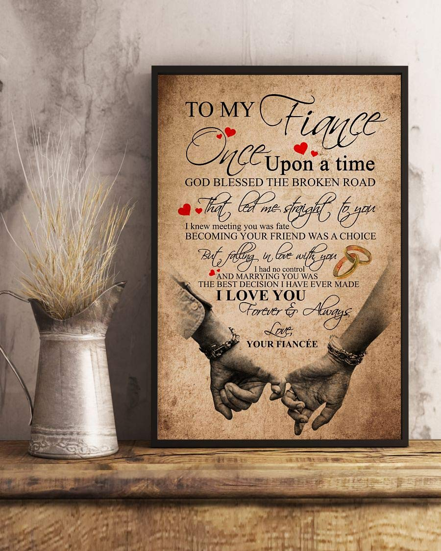 Amazon Com To My Fiance Once Upon A Time I Love You Forever