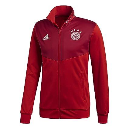 0b9159550dba0 Amazon.com : adidas 2018-2019 Bayern Munich 3S Track Top (Red ...