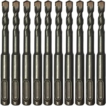 5//16 X 8-INCH SDS-PLUS ROTARY HAMMER DRILL BIT CARBIDE-TIPPED ROCK STONE 3PCS