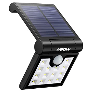 Mpow 14 LED Luz Solar Plegable, Sensor de Movimiento de 120°, Luz Exterior