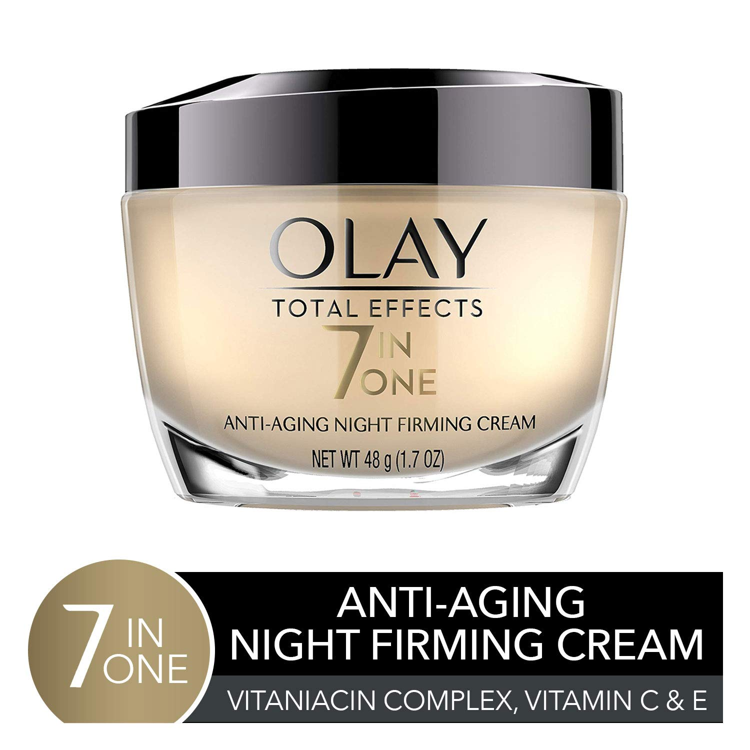 Night Cream by Olay Total Effects Anti-Aging Night Firming Cream & Face Moisturizer, 1.7 Fluid Ounce by Olay