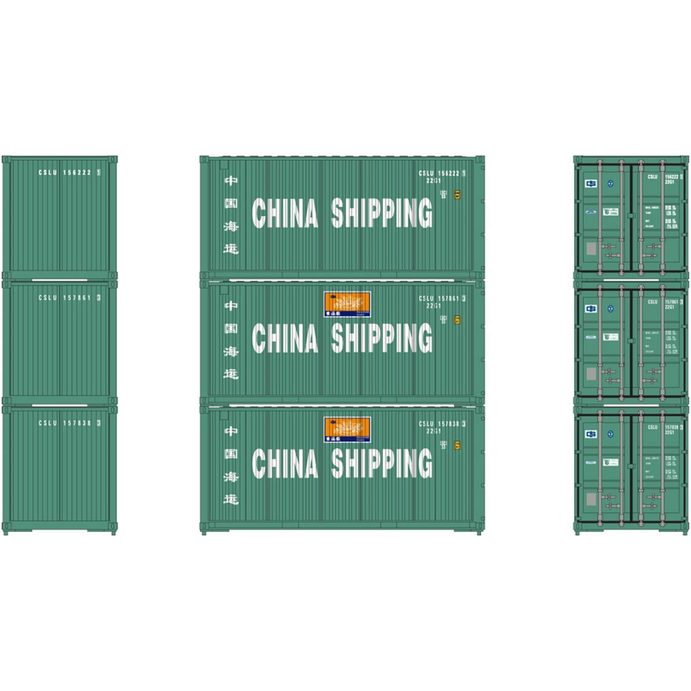 【最安値挑戦】 Ho B0768GBDWC Shipping RTR 20 (3 'ベベルコンテナChina Shipping (3 ) B0768GBDWC, 口和町:4de8f693 --- a0267596.xsph.ru
