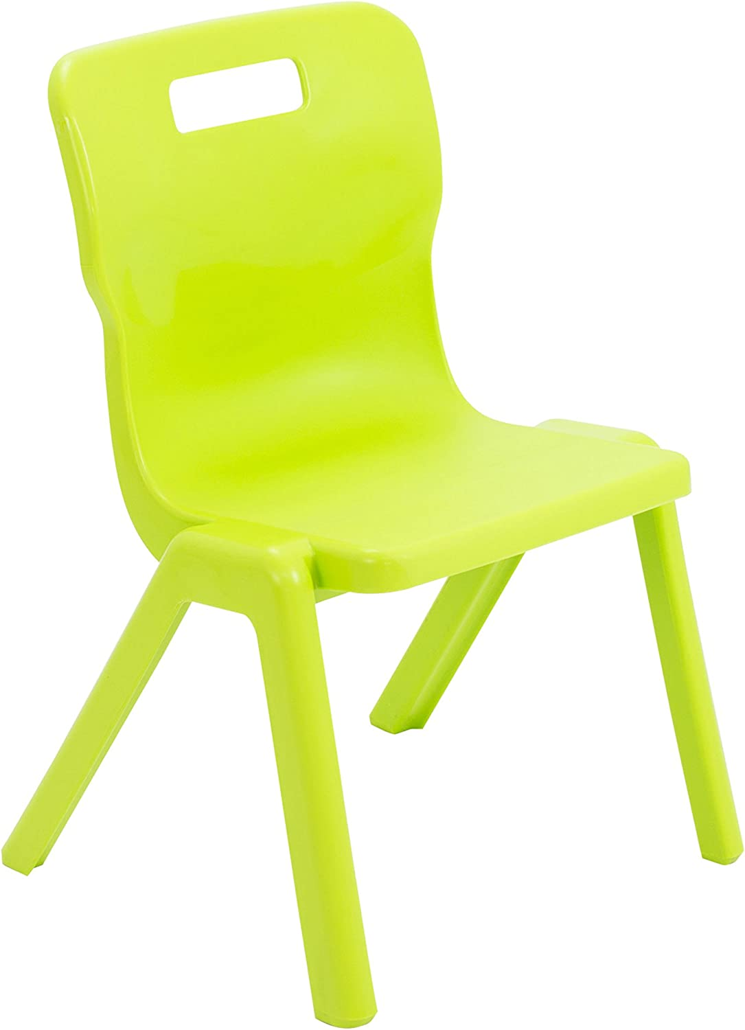 Size 3 for Ages 5-7 Years Lime Green Titan One Piece Classroom Chair Plastic Pack of 2