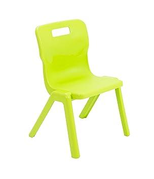 Silla de una Sola Pieza Titan Hecha de plástico, plástico, Lime Green, 5-7 años: Amazon.es: Hogar