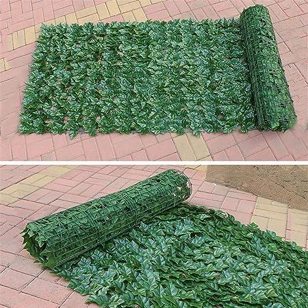 Paneles de privacidad artificial Planta de cobertura de topiario Setos artificiales Hiedra de imitación Hojas Valla Valla Malla Respaldo de protección UV Pantalla de privacidad Valla de jardín para: Amazon.es: Hogar
