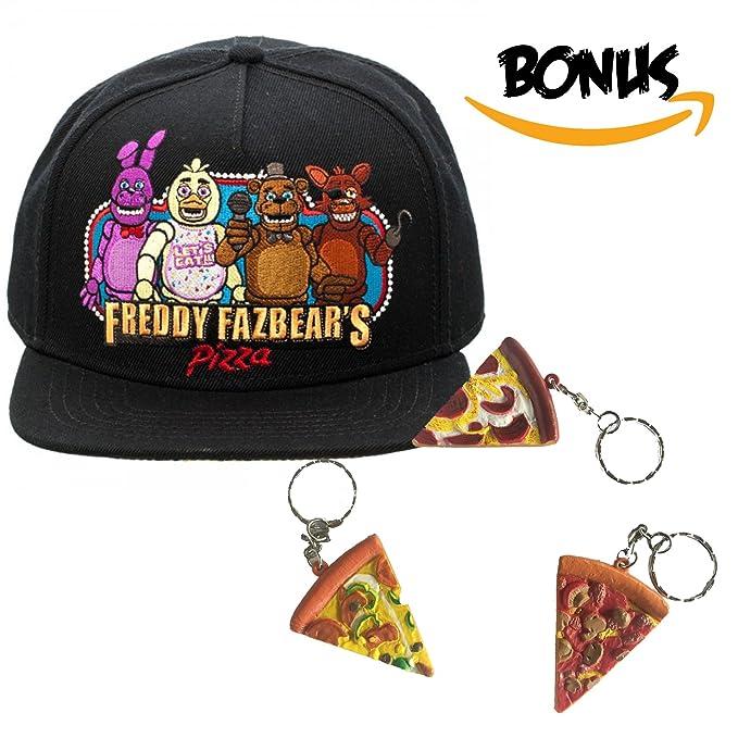 FNAF cinco noches en Freddy s - Gorra gorro y Pizza llavero ...