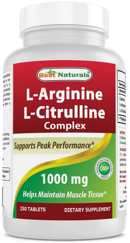 Best Naturals L-Arginine L-Citruline Complex Tablets, 250 Count by Best Naturals