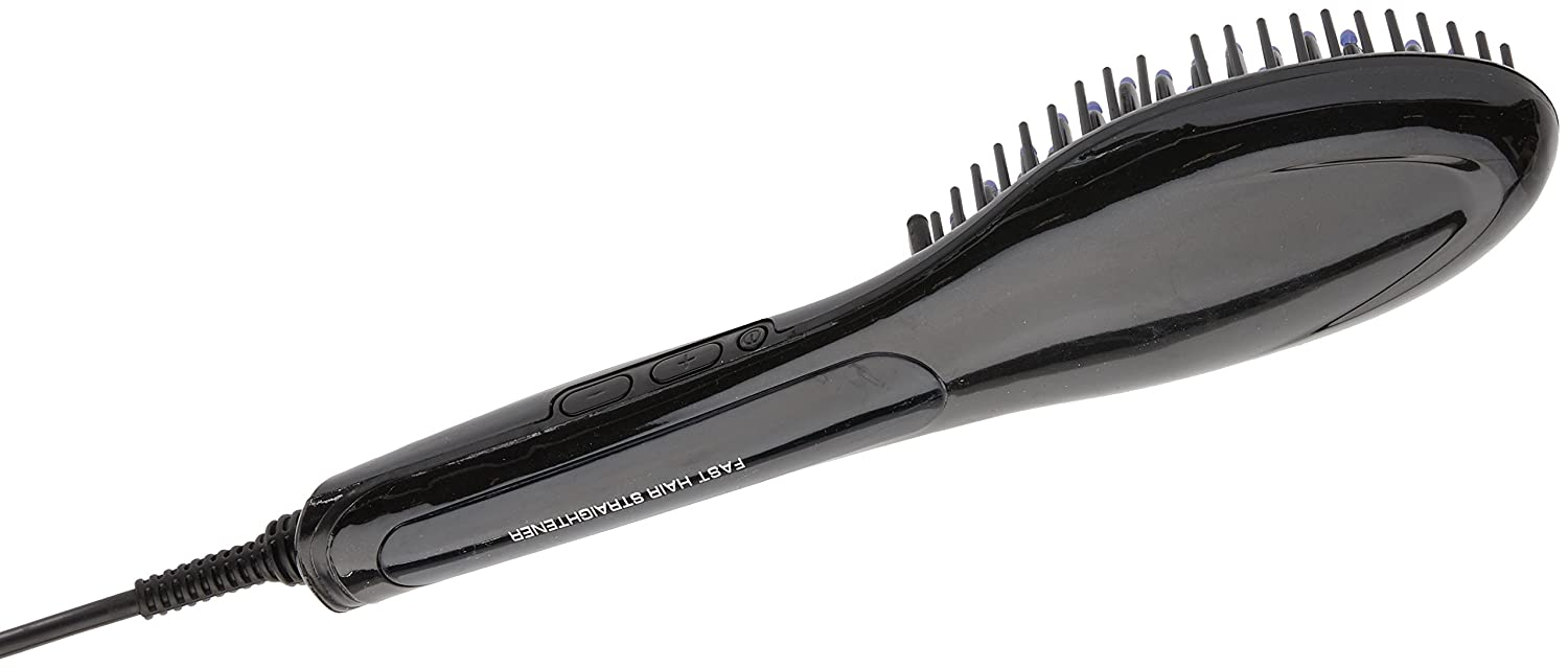 Z-COMFORT Elite Black Instant Fast Straightening Brush, 1 Count