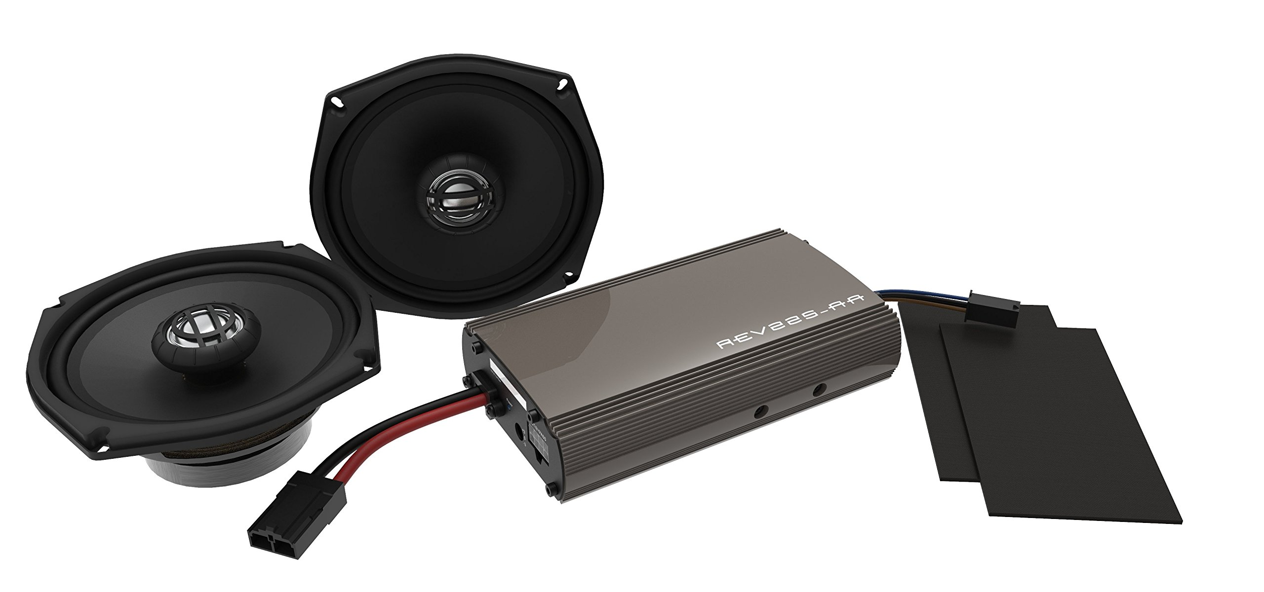 Hogtunes 225 Watt Amplifier and 6.5'' Front Speaker Kit (REV 225SG Kit-AA)