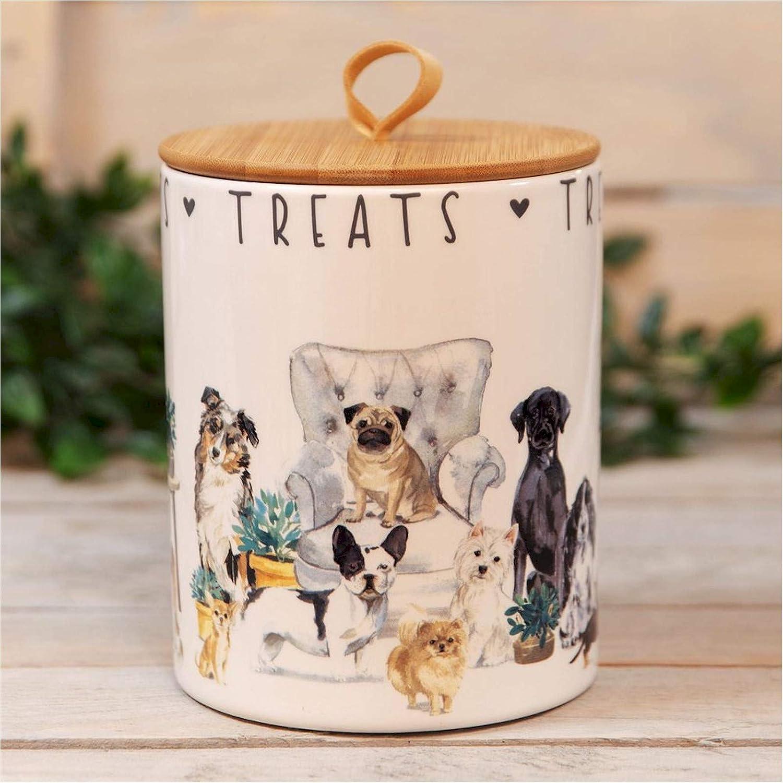 Best of Breed Ceramic Dog Treat Storage Jar