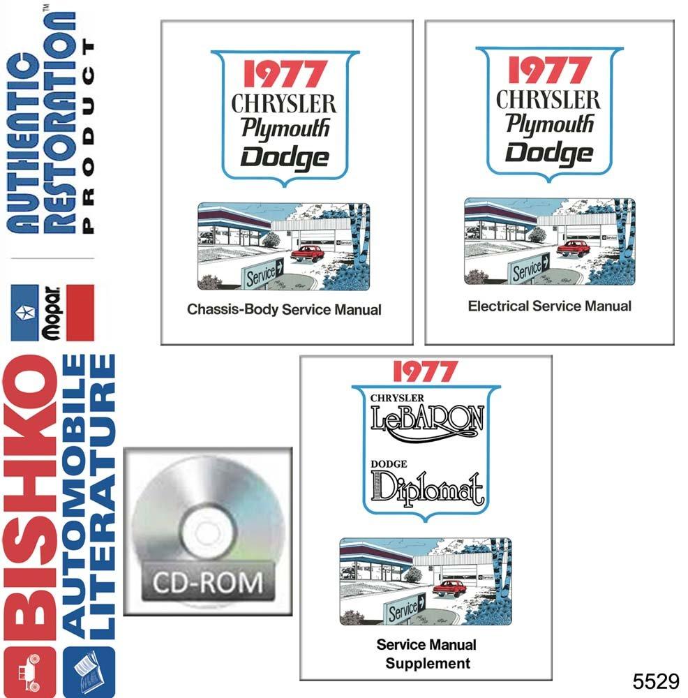 Amazon.com: bishko automotive literature 1977 Chrysler Cordoba T&C New  Yorker Shop Service Repair Manual CD Engine Wiring: Automotive