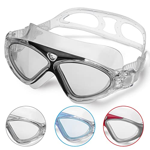 Swimming Goggles Adult Anti Fog No Leaking Clear Vision UV Protection Easy to Adjust Professional+Suitable for Men and Women