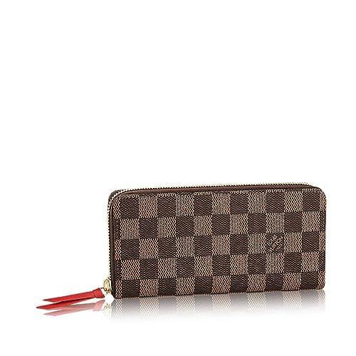 Louis Vuitton Damier Ebene lienzo Clemence Wallet n60534: Amazon.es: Zapatos y complementos