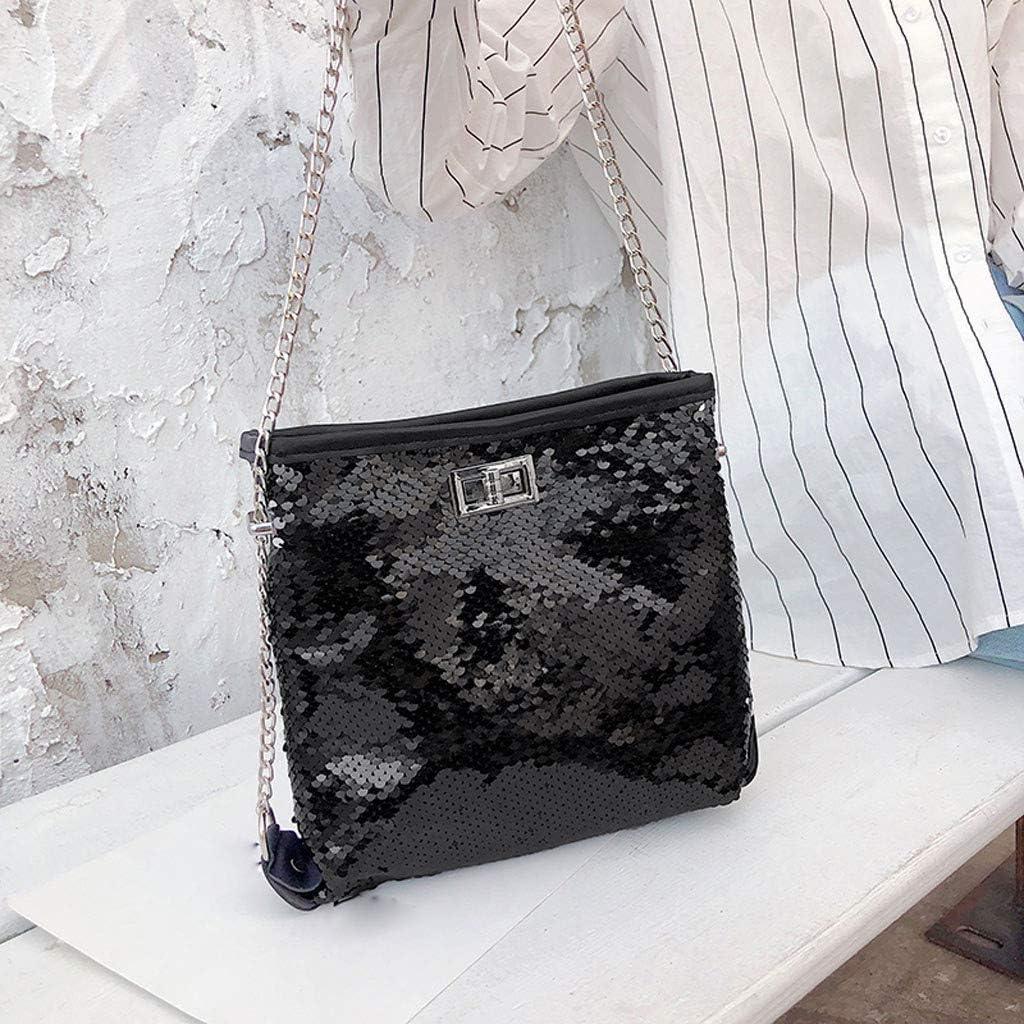 Ni/_ka Paillettes de mode sac /à bandouli/ère cha/îne sauvage sac messenger sac /à main portable sauvage sac /à bandouli/ère tendance pour femme ou fille