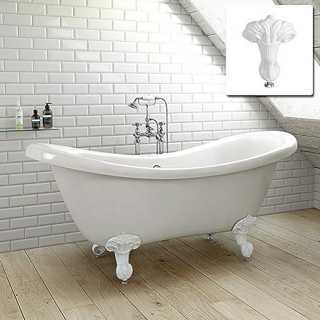 Slipper Bath Uk 1600mm traditional freestanding bathtub roll top double slipper bath 1600mm traditional freestanding bathtub roll top double slipper bath white feet sisterspd