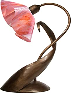 product image for Jezebel Signature TLLD-BBH-LP14-PEO Lily Style Brown with Brown Highlights Lazy Daisy Lamp, Peony