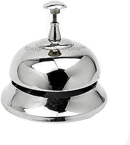 "4"" Chromed Premium Nautical Brass Metal Office Desk Call Bell | Office Supplies & Corporate Gifts | Nagina International"