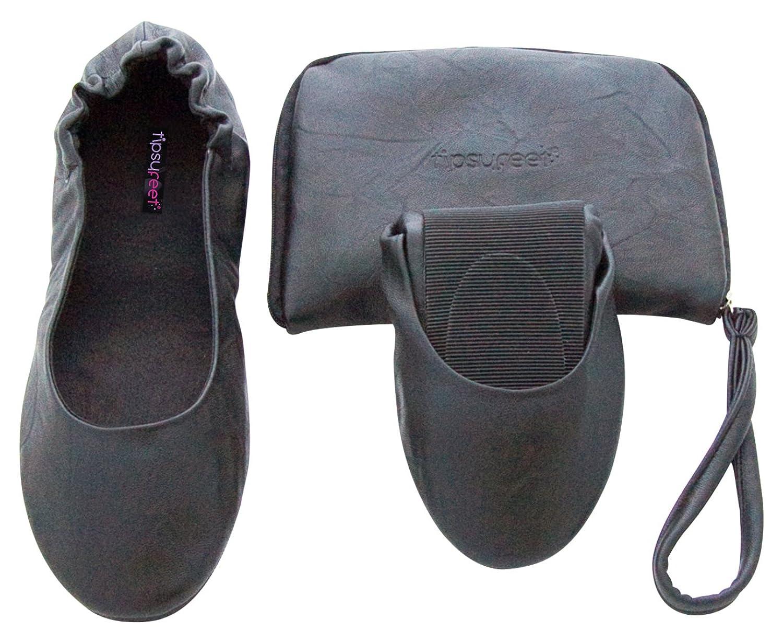 Tipsyfeet Black Foldable Shoes
