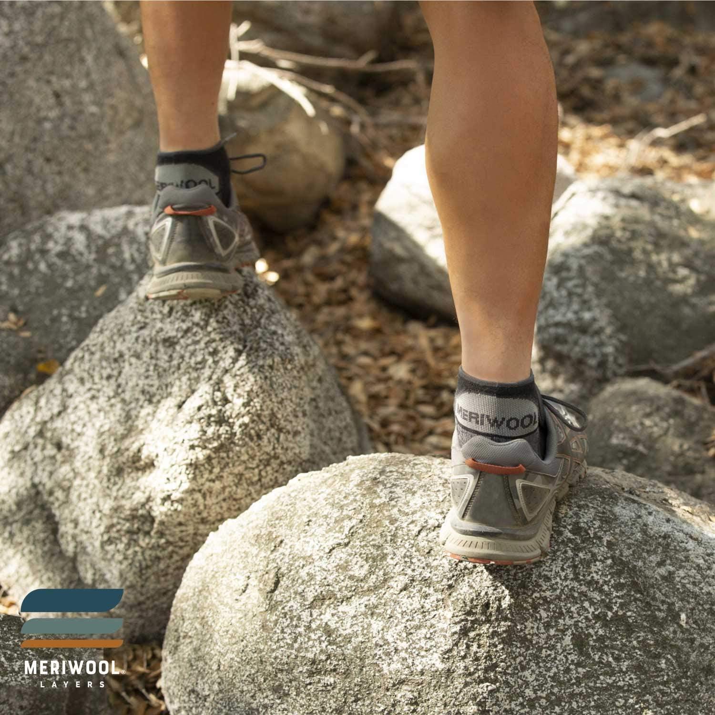 Calcetines de trekking profesionales para senderismo Calcetines de Calcetines funcionales Calcetines de senderismo premium de lana merino 2 pares Calcetines de senderismo Calcetines c/álidos de merino