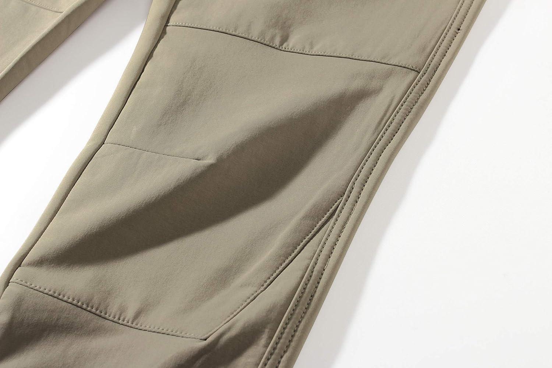 Camii Mia Damen Wanderhose Outdoorhose Softshellhose Fleece Gef/üttert Zip Off Stretch Wasserdicht Winddicht Winterhose