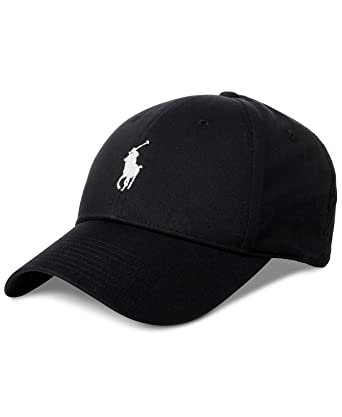 cb8e2deb Polo Ralph Lauren Men`s Baseline Performance Cap (Black(5002)/White ...