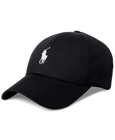 Polo Ralph Lauren Men`s Baseline Performance Cap (Black(5002) White ... e0a75b1b785f