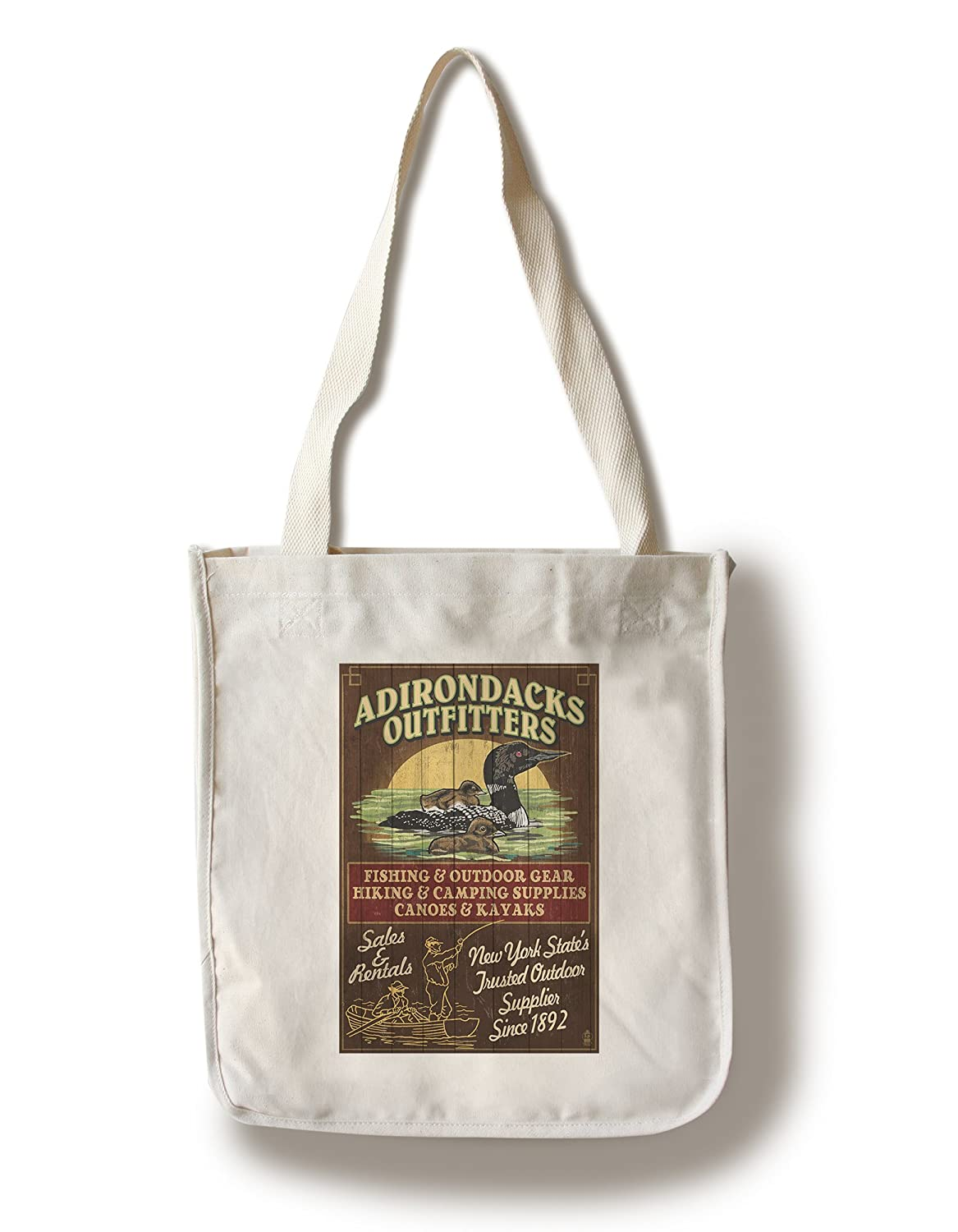 割引価格 The Adirondacks、ニューヨーク州 – Loon x Vintage Sign Tote 12 x Bag 18 Metal Sign LANT-41363-12x18M B018816GYQ Canvas Tote Bag Canvas Tote Bag, ゴルフショップジョプロ:4e0da9fa --- arianechie.dominiotemporario.com