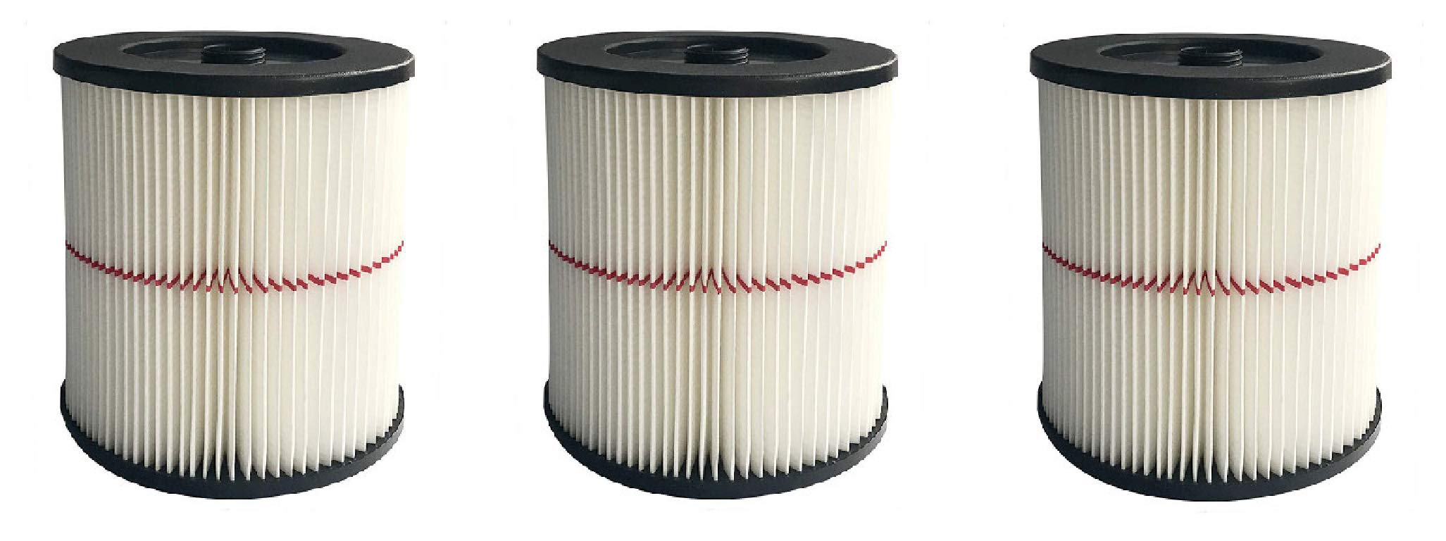 Nispira Replacement HEPA Filter Compatible with Craftsman Wet/Dry Vacs Vacuum. Compared to Part 9-17816. 3 Filters
