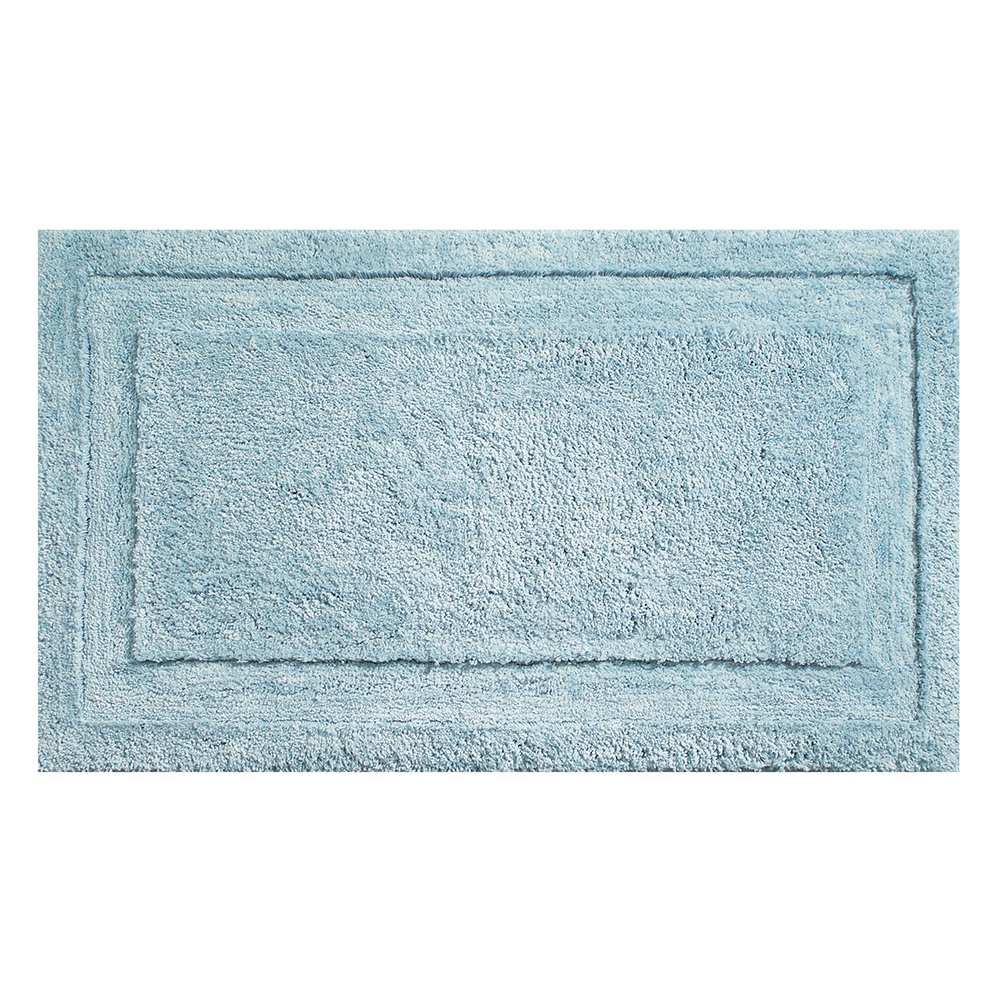 "InterDesign Microfiber Spa Bathroom Accent Rug, 34"" x 21'' Inches, Water"