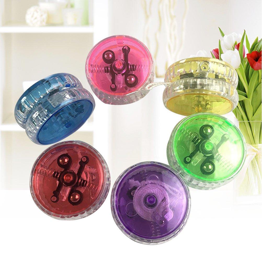YeahiBaby Yoy/ós con LED Yoyo Profesional Plastic Juguete para los Ninos Rosa//Azul//Verde//Amarillo//Morado//Rojo 15 Piezas