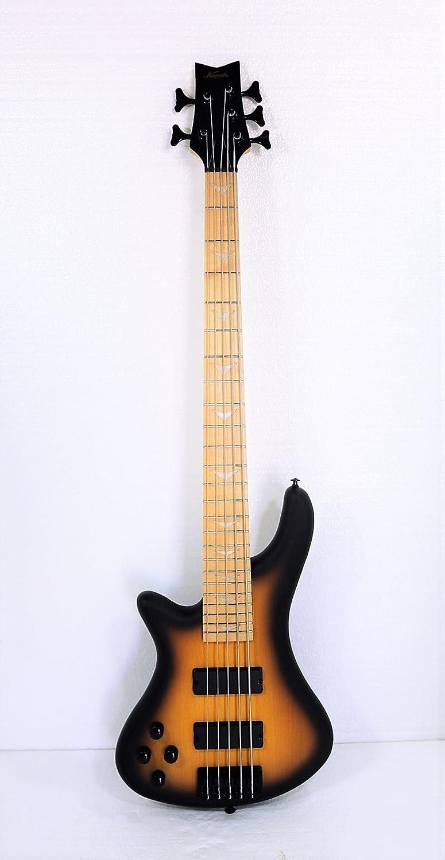 Left-handed 5 String Electric Bass, Bolt-on Maple Neck, Maple Fingerboard KAPOK KBL5-200F-SB