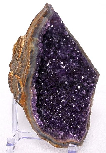 Amazon com: Mine Treasures A++ Purple Amethyst Crystal Cluster